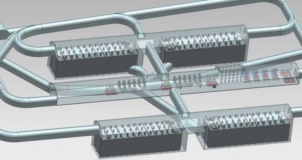 The modular DUNE detector